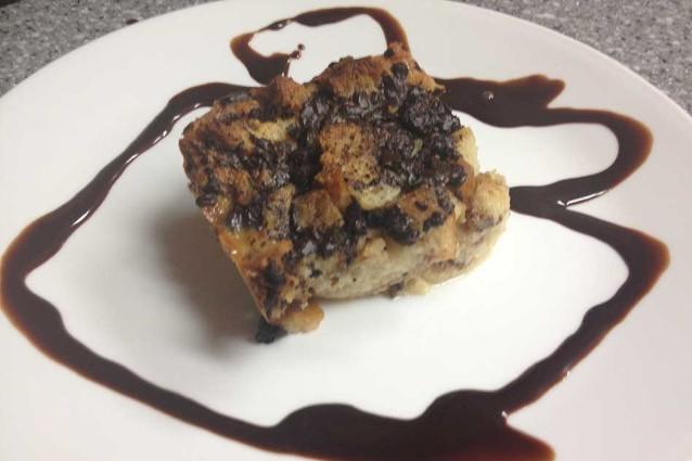 Dark Chocolate Bread Pudding